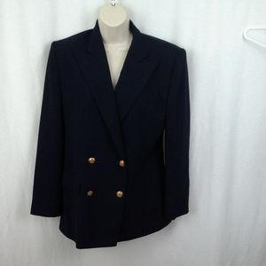 Lauren Ralph Lauren womens jacket Navy Size 8 Wool